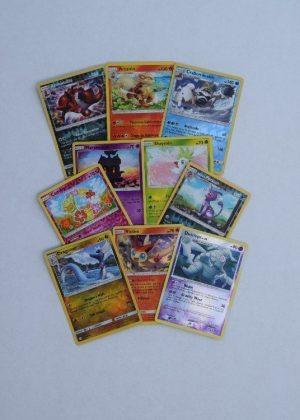10 skinnende pokemon kort