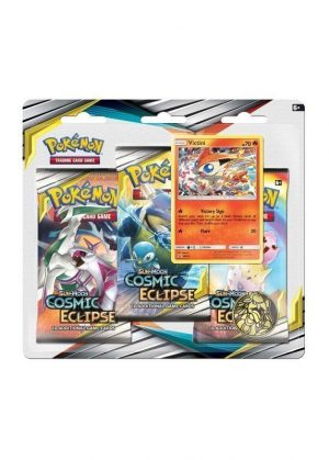 Victini blister pack (3 stk.) - S&M Cosmic Eclipse