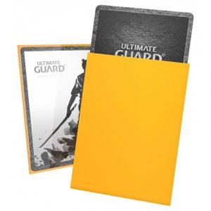 KATANA (gul) Deck Protector Sleeves 100 stk. top-loading (66x91mm) - Katana Sleeves Standard Size Yellow