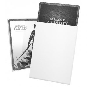 KATANA (hvid) Deck Protector Sleeves 100 stk. top-loading (66x91mm) - Katana Sleeves Standard Size White