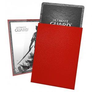 KATANA (rød) Deck Protector Sleeves 100 stk. top-loading (66x91mm) - Katana Sleeves Standard Size Red