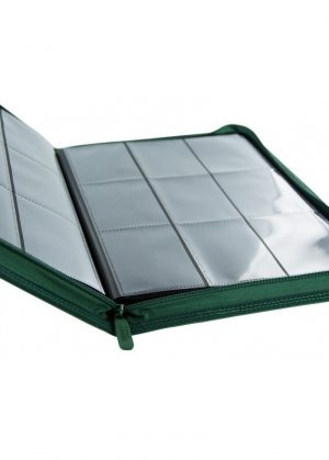 Samlemappe i høj kvalitet: Ultimate Guarde 9-pocket ZipFolio XenoSkin - Grøn - Åben mappe