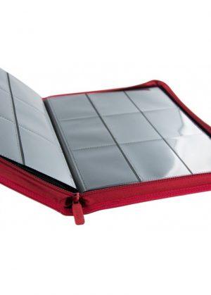 Samlemappe i høj kvalitet: Ultimate Guarde 9-pocket ZipFolio XenoSkin - Rød - Åben mappe