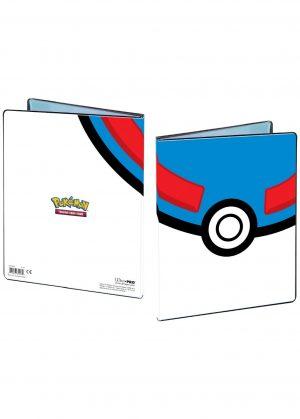 Lille mappe med pokemonmotiv (Great Ball) (4 kort pr. side)