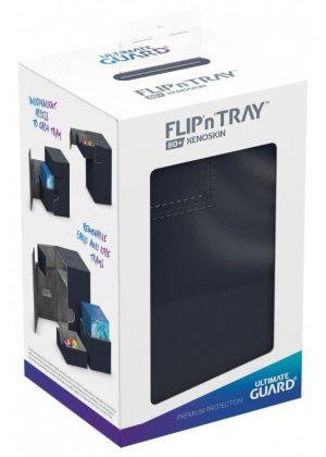 Deck box (Blå) - Flip'n'Tray 80+ XenoSkin™ - Ultimate Guard