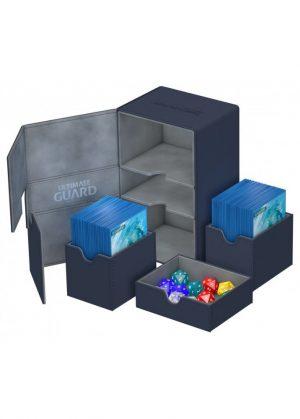 Deck box (Blå) - Twin Flip'n'Tray 160+ XenoSkin™ - Ultimate Guard - Åben Box