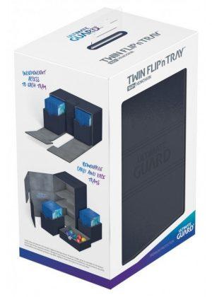 Deck box (Blå) - Twin Flip'n'Tray 160+ XenoSkin™ - Ultimate Guard