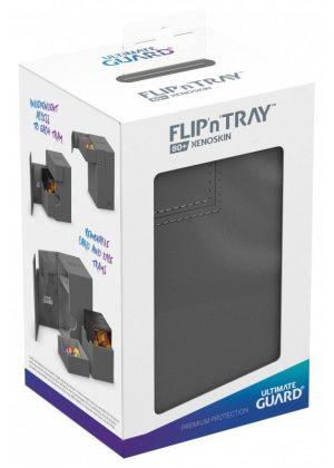 Deck box (Grå) - Flip'n'Tray 80+ XenoSkin™ - Ultimate Guard