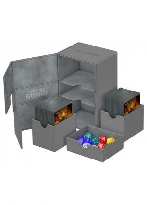 Deck box (Grå) - Twin Flip'n'Tray 160+ XenoSkin™ - Ultimate Guard - Åben Box