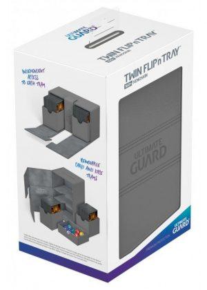 Deck box (Grå) - Twin Flip'n'Tray 160+ XenoSkin™ - Ultimate Guard