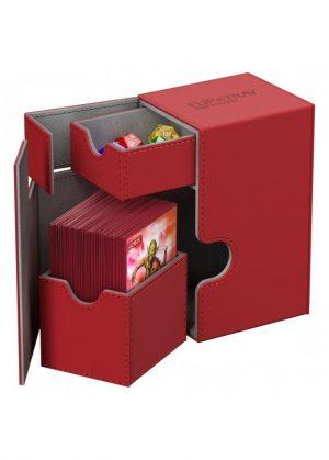 Deck box (Rød) - Flip'n'Tray 80+ XenoSkin™ - Ultimate Guard - Åben Box