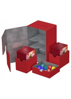 Deck box (Rød) - Twin Flip'n'Tray 160+ XenoSkin™ - Ultimate Guard - Åben Box