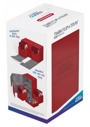 Deck box (Rød) - Twin Flip'n'Tray 160+ XenoSkin™ - Ultimate Guard