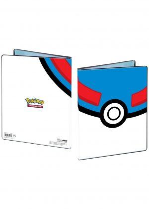Stor mappe med pokemonmotiv (Great Ball) (9 kort pr. side)