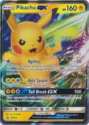 Pikachu GX - SM232 - JUMBOkort
