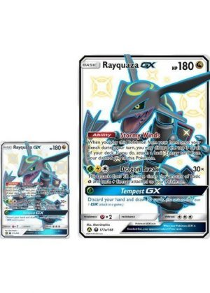 Shiny Rayquaza Premium Powers Collection Box. - Rayquaza GX 177a/168 JUMBOkort og normal