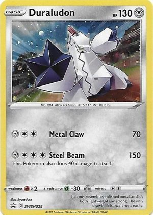 Duraludon blister pack (3 stk.) - SWSH Rebel Clash - Duraludon SWSH028 - Pokemon Sword & Shield Promo kort