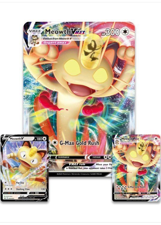 Meowth VMAX Special Collection box. - Promo og JUMBOkort