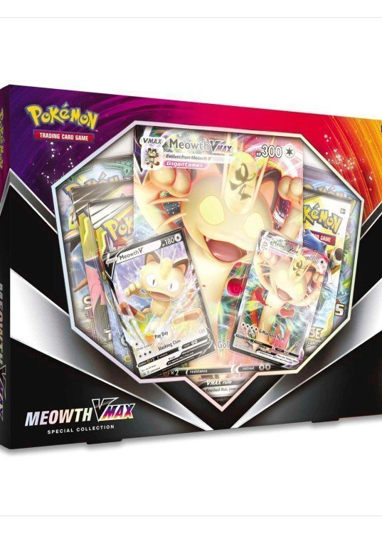 Meowth VMAX Special Collection box.