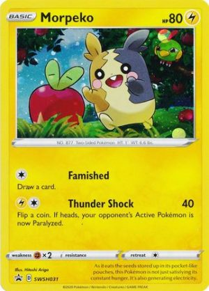 Morpeko Pin Collection Box. - Morpeko SWSH031 - Pokemon Sword & Shield Promo kort