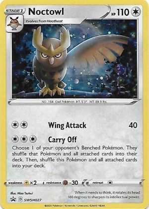 Noctowl blister pack (1 stk.) - SWSH Rebel Clash - Noctowl SWSH027 - Pokemon Sword & Shield Promo kort