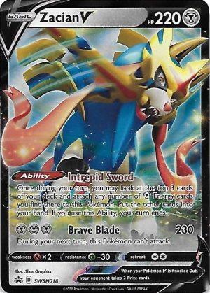 Zacian V Tin Box. - Zacian V SWSH018 - Pokemon Sword & Shield Promo kort