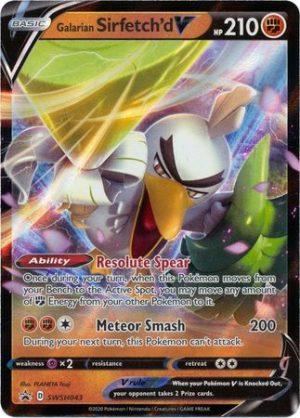 Galarian Sirfetch'd V Box. - Galarian Sirfetch'd V SWSH043 - Pokemon Sword & Shield Promo kort