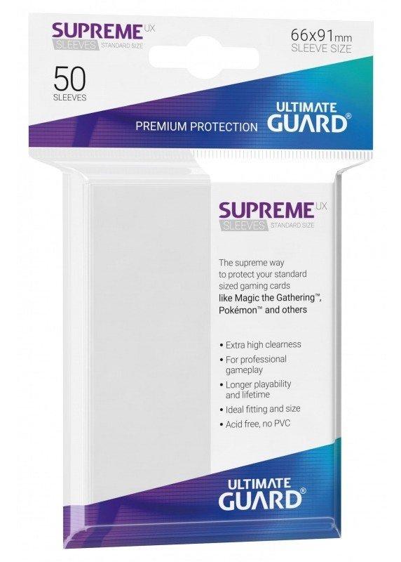 SUPREME UX (Klar) Deck Protector Sleeves 50 stk. top-loading (66x91mm)