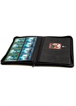 Spillermappe i høj kvalitet: Ultimate Guarde 8-pocket ZipFolio XenoSkin - Sort - Åben mappe