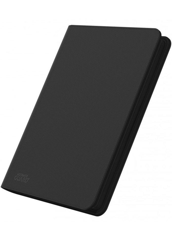 Spillermappe i høj kvalitet: Ultimate Guarde 8-pocket ZipFolio XenoSkin - Sort