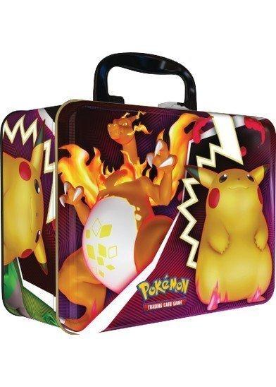 Tin Box udsmykket med Charizard VMAX og Pikachu VMAX - Pokémon Collector's Chest Fall 2020.