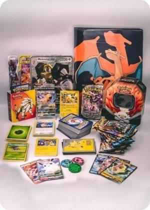 Pokemons kæmpe luksus-pakkeløsning med mapper, JUMBOkort og meget mere - Pakketilbud 5.