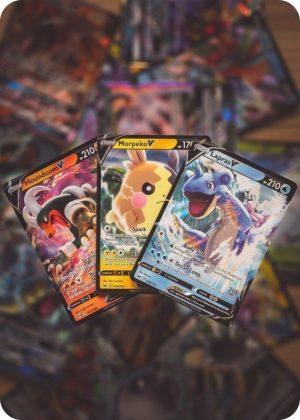 3 forskellige V pokemon kort