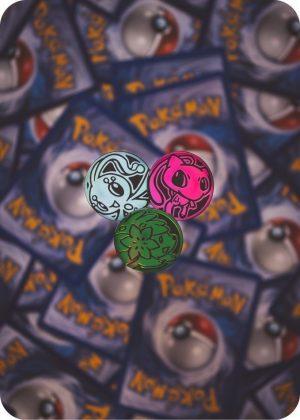 3 forskellige pokemon mønter