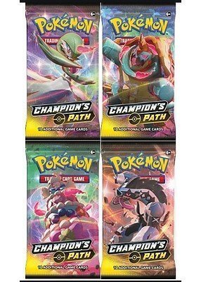 Booster Pack full artwork set (4 stk.) fra SWSH Champion's Path.