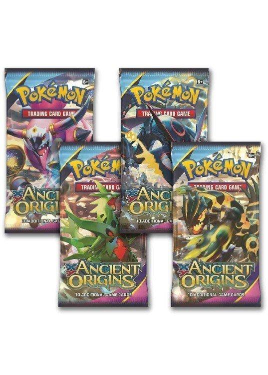 Booster Pack full artwork set (4 stk.) fra XY Ancient Origins.