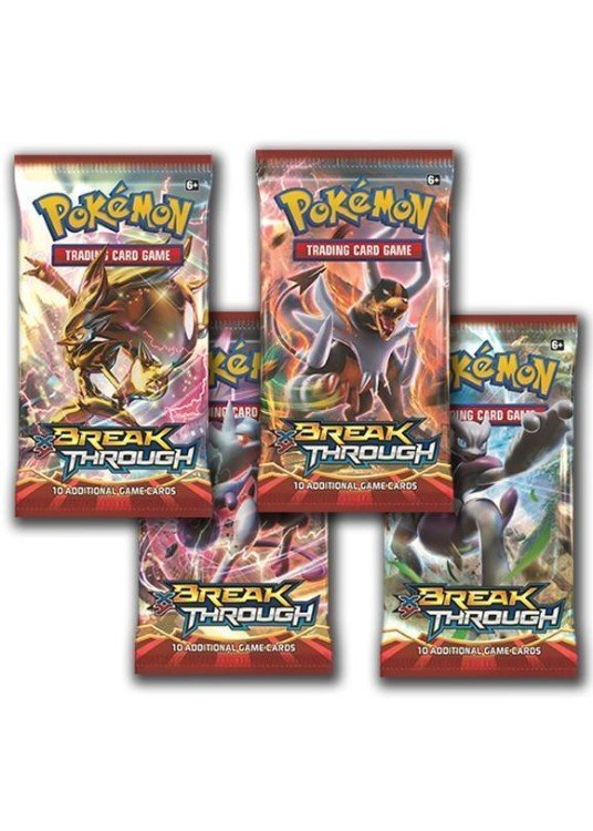 Booster Pack full artwork set (4 stk.) fra XY BREAKthrough.