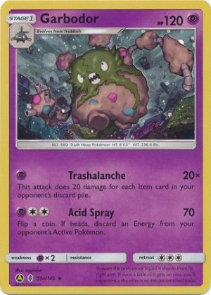 Garbodor blister pack (3 stk.) - S&M Forbidden Light - Garbodor 51a/145 - Alternate Art Pokémonkort