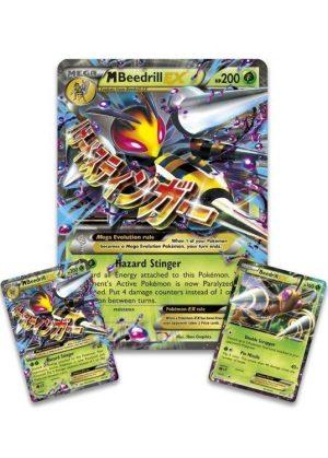 Mega Beedrill EX Premium Collection Box. - Mega Beedrill EX Promokort og JUMBOkort