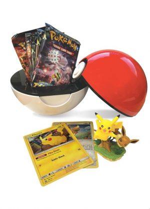 Pikachu & Eevee Poké Ball Collection Box. - Indhold i Pikachu & Eevee Poké ball Collection