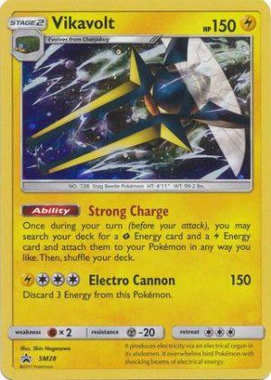 Vikavolt blister pack (3 stk.) - S&M Guardians Rising - Vikavolt SM28 - Sun & Moon Promo pokemonkort