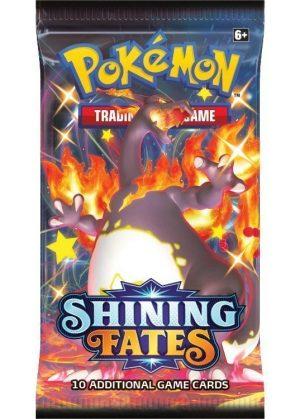 Booster Pack full artwork set (4 stk.) fra SWSH Shining Fates. - SWSH Shining Fates Booster Pack