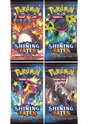 Booster Pack full artwork set (4 stk.) fra SWSH Shining Fates.