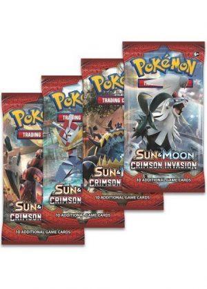 Booster Pack full artwork set (4 stk.) fra S&M Crimson Invasion.