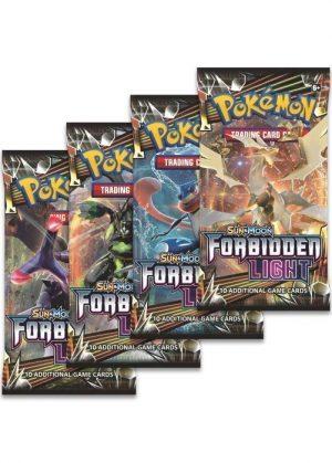 Booster Pack full artwork set (4 stk.) fra S&M Forbidden Light.