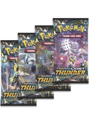 Booster Pack full artwork set (4 stk.) fra S&M Lost Thunder.