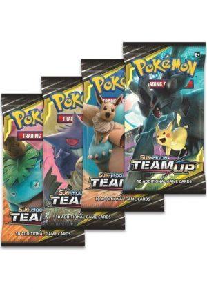 Booster Pack full artwork set (4 stk.) fra S&M Team Up.