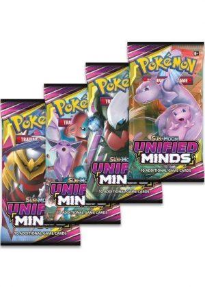 Booster Pack full artwork set (4 stk.) fra S&M Unified Minds.