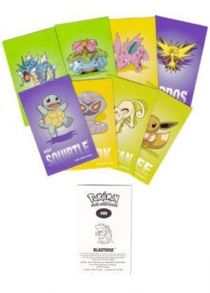 Pokémon klistermærker (8 stk.) - Sandylion collector stickers - Eksempel på klistermærker i en pakke.