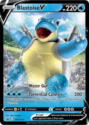 Blastoise V - Battle Deck - Blastoise V SWSH101 - Pokemon Sword & Shield Promo kort